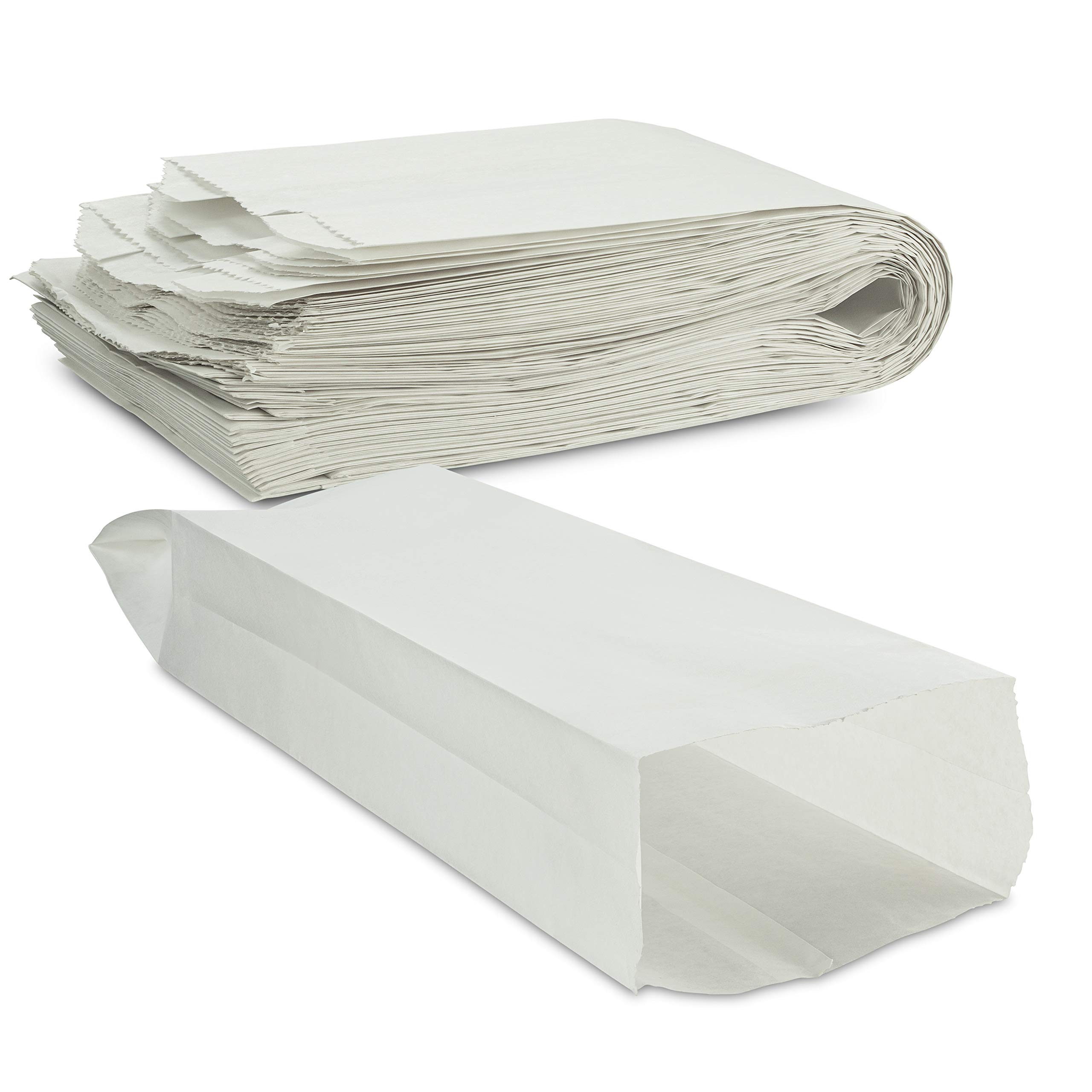 """Plain White Paper Bread Bag 5 1/4"""" x 3 1/4"""" x 18"""" Keep Bread Fresh by MT Products - (50 Pieces)"""
