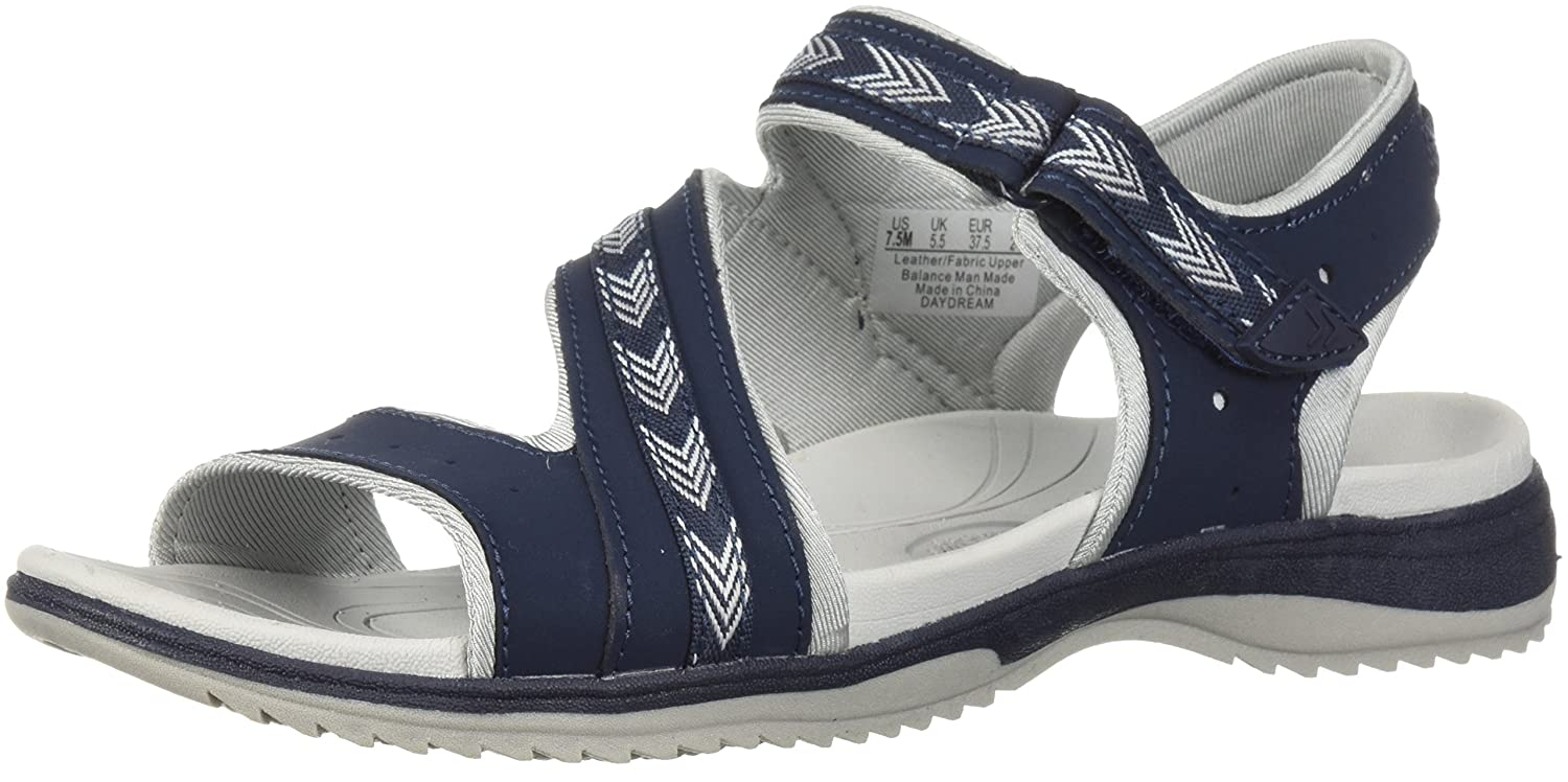 Dr. Scholl's Shoes Women's Daydream Slide Sandal B0767T3Y12 7.5 B(M) US|Navy Action Leather