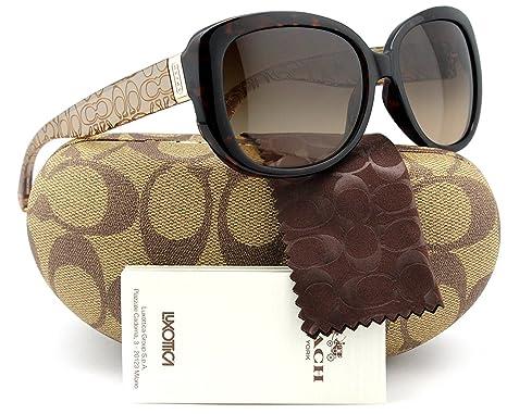 Amazon.com: Coach hc8076 l067 Laurin anteojos de sol carey ...