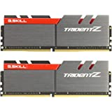 G.SKILL 32GB (2 x 16GB) TridentZ Series DDR4 PC4-25600 3200MHz 288-Pin For Intel Z170 Platform Desktop Memory Model F4-3200C16D-32GTZ