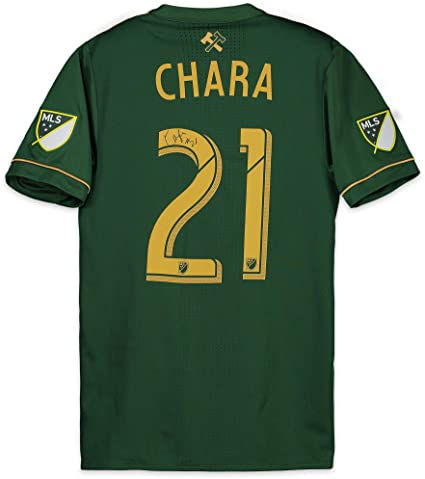 new product c598f 823b4 Diego Chara Portland Timbers Autographed Match-Used Green ...
