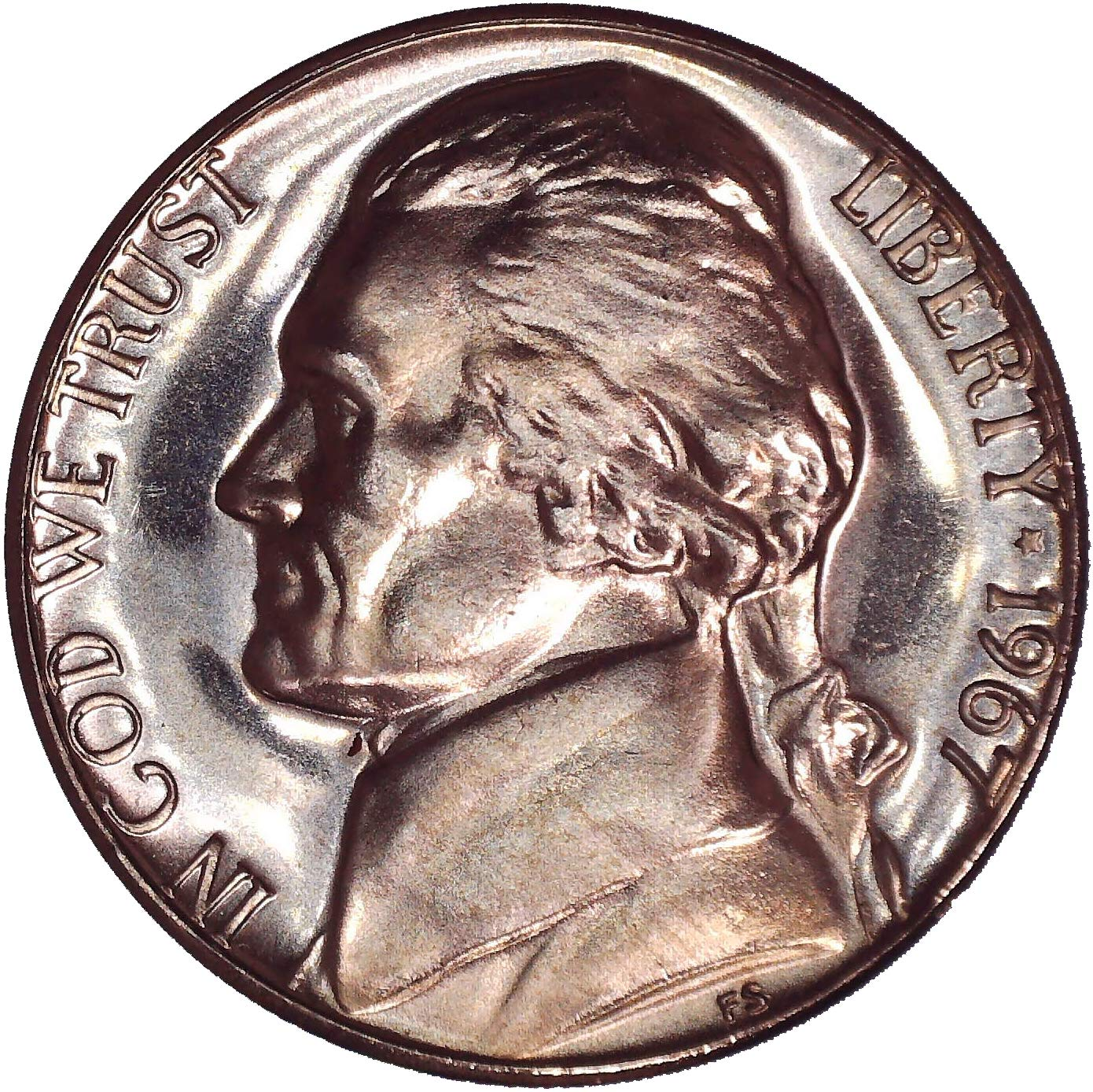 1967 SMS Jefferson Nickel-Special Mint Set Coin