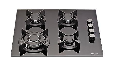 Millar GH6041XEB 60 cm gas-cocina vitrocerámica ...: Amazon ...