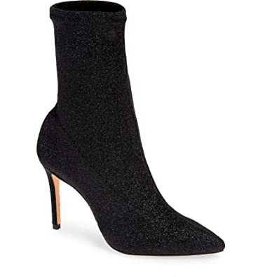 92fba3368d709 Schutz Sciarpe Glitter Sock Bootie - Black
