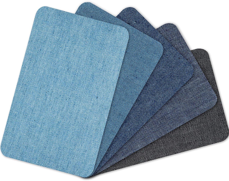 5 Piezas Parches Planchados en Jean Parches de Reparación de Jeans de Mezclilla Kit de Parche de Reparación de Ropa Parches Surtidos Planchado Sobre Mezclilla, 4,9 x 3,7 Pulgadas, 5 Colores