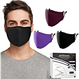 Cloth Face Mask Washable, Reusable Cotton Face Masks Adjustable for Adult