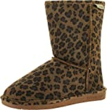 Bearpaw Womens Emma 608W Short Suede Boots, Hickory Leopard