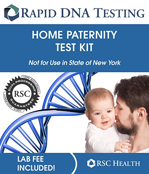 Rapid Paternity Test Kit - All Lab Fees Included - Confidential DNA Results