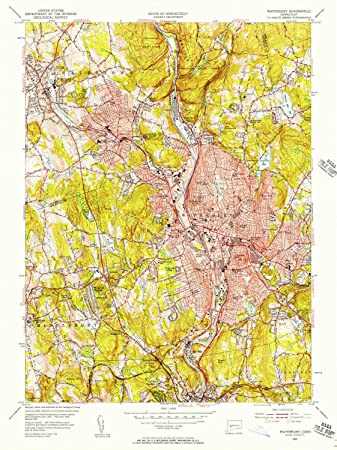 Amazon.com : YellowMaps Waterbury CT topo map, 1:24000 Scale, 7.5 X ...