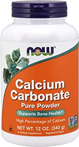 Now Foods Calcium Carbonate PWD 12 Ounce, 12.0 Ounce
