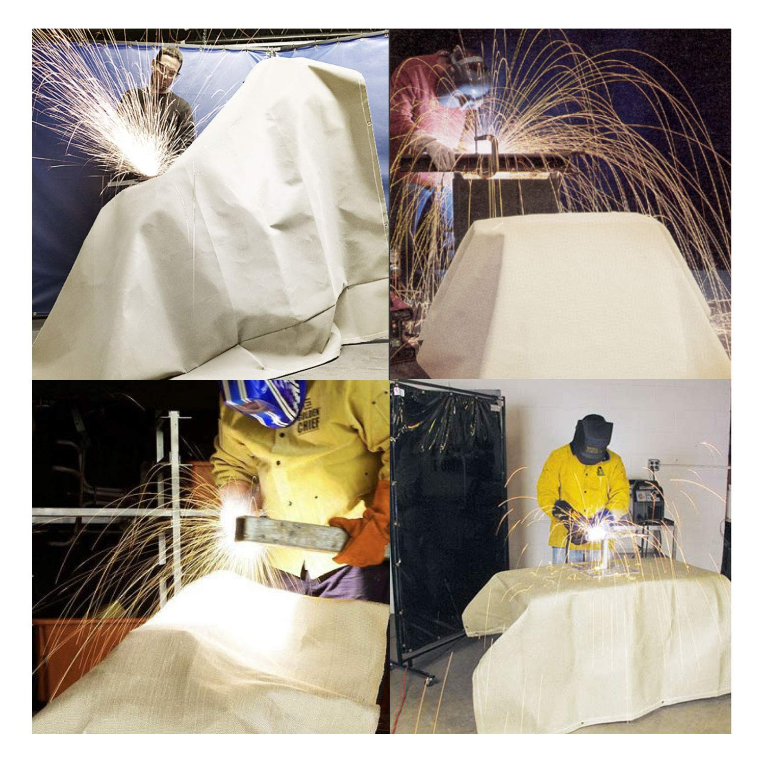 Welding Blanket Heavy Duty Fiberglass Fire Blanket Protect Work Area from Sparks 60 x 40 inches
