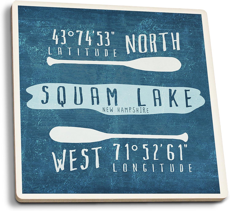Lake Coasters American Made Set of four Unique Cork Board Coasters