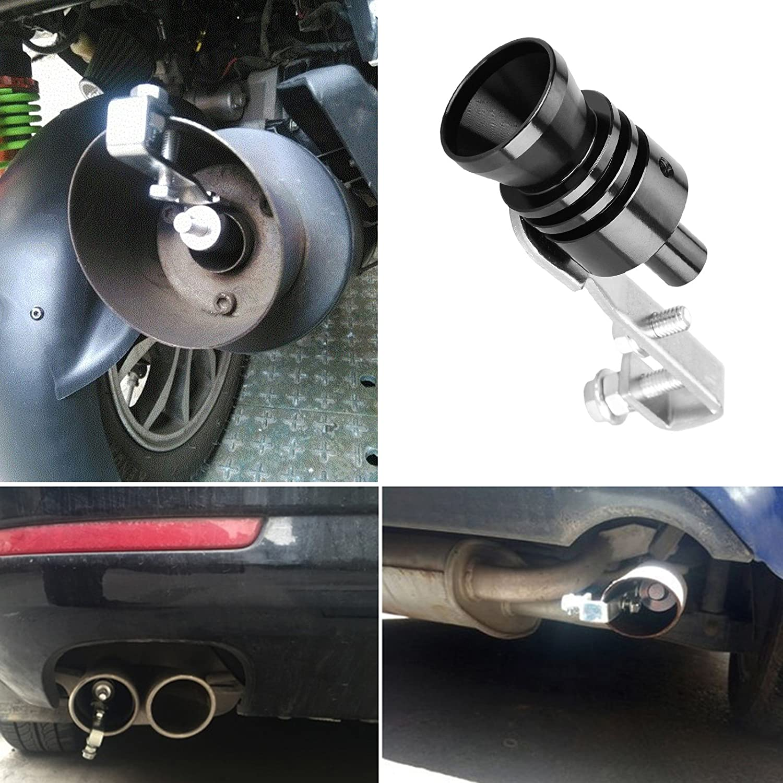 Dromedary Universal Black M Turbo Sound Noise Exhaust Muffler Pipe Whistle//Fake Blow off valve BOV Simulator Whistler