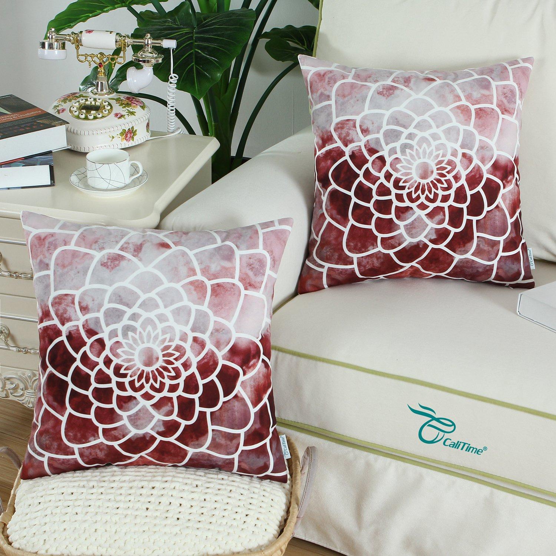 Amazon.com: CaliTime - Juego de 2 fundas de almohada de ...