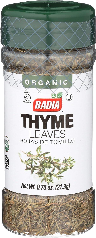 BADIA SPICES Organic Thyme Leaves, 0.8 OZ