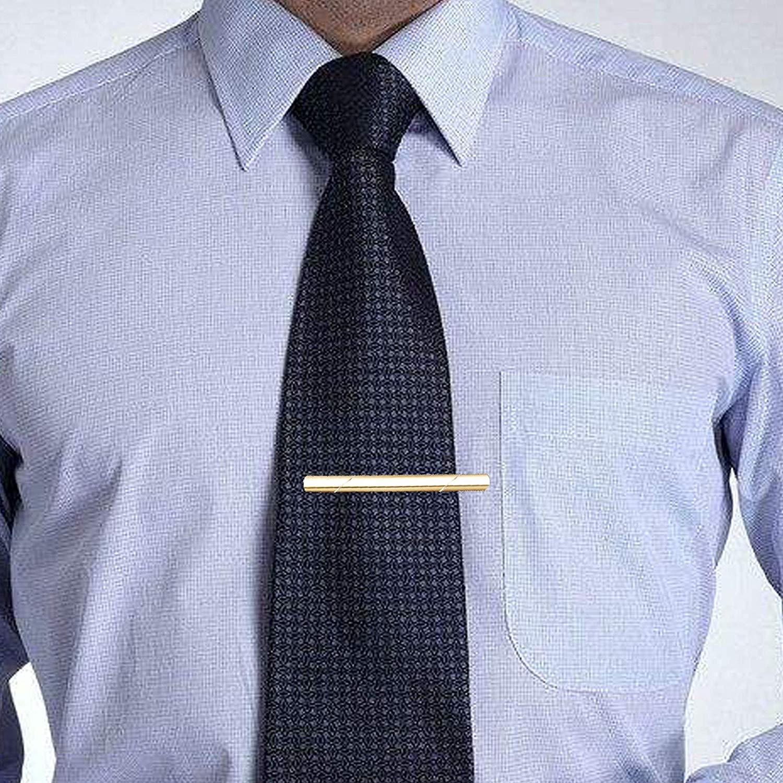 YADOCA 10-12 Pcs Pince /à Cravate Classique pour Hommes Cravate Slim Tie Bar Set Business /& Bo/îte Cadeau