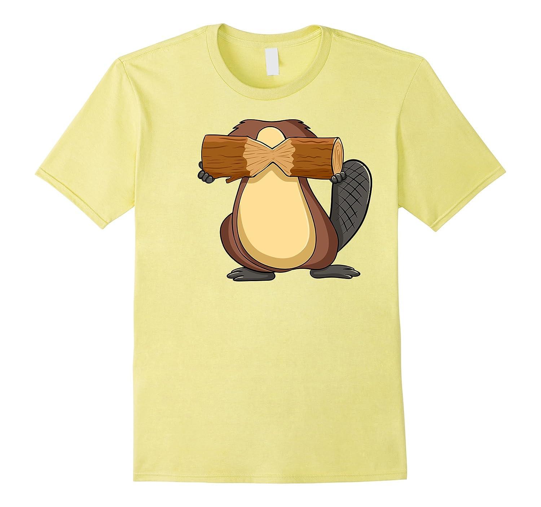 Beaver Costume T-Shirt for Halloween Beaver Animal Cosplay-FL