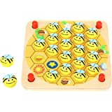 Pidoko Kids Garden Bug Memory Game - Wooden Toys for Toddlers Boys and Girls 3 Years and Up - Brain Teasers