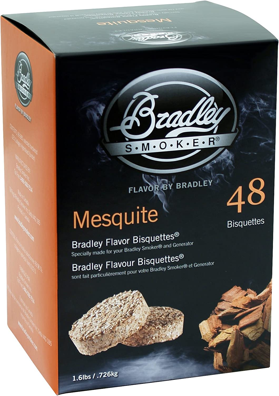 Bradley Smoker BTMQ48 Smoker Bisquettes, 48 Pack, Mesquite