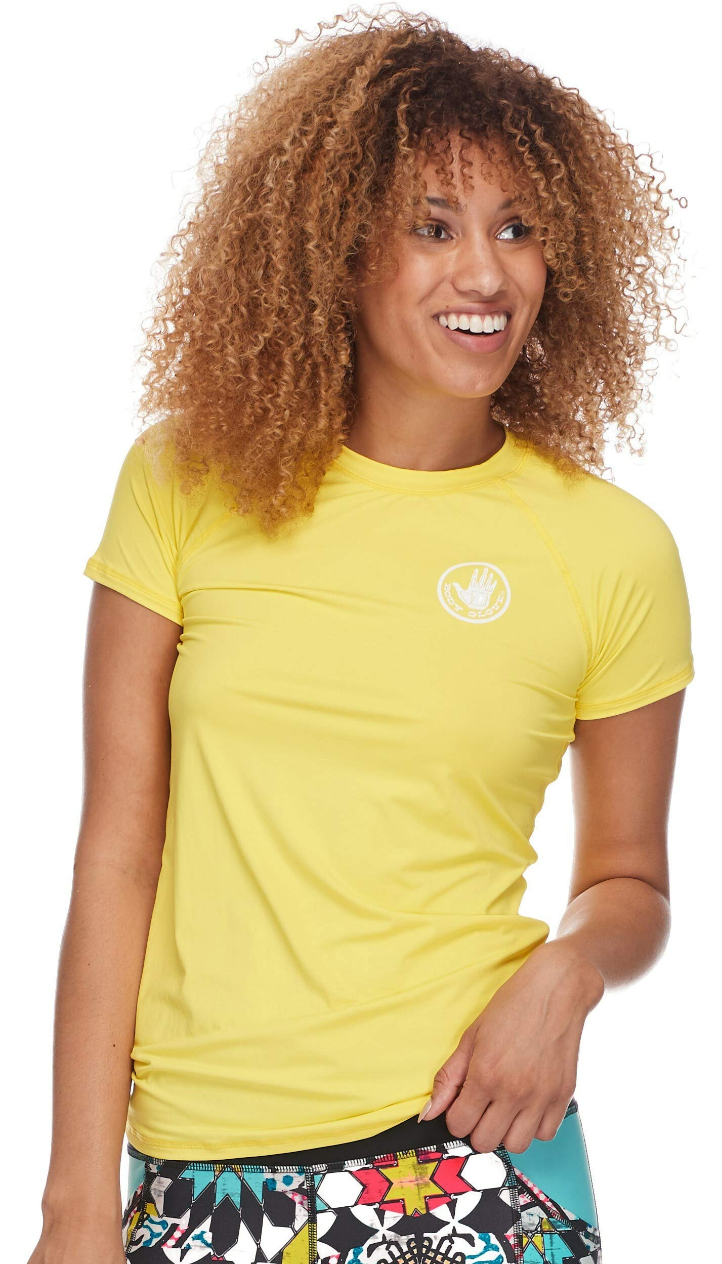 Body Glove Women's Smoothies in-Motion Solid Short Sleeve Rashguard with UPF 50 Citrus, X-Small by Body Glove (Image #1)