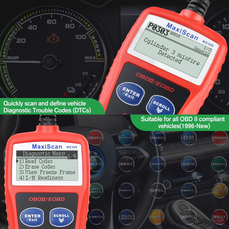Versione Inglese Autel MS309 Universale OBD2 Auto Diagnostica Lettore di Codici di Errore Scanner per Auto