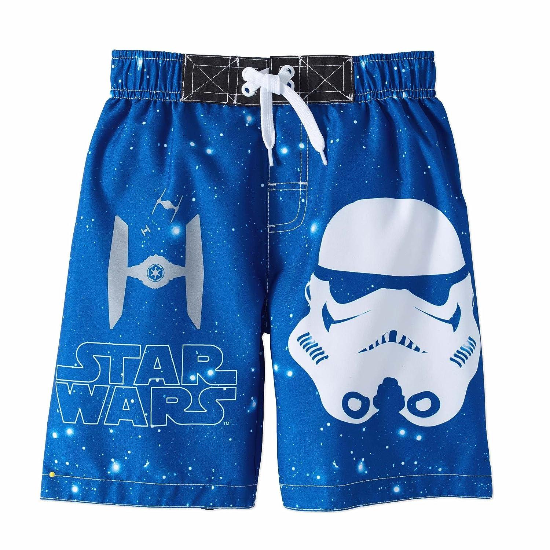 Star Wars Little Boys Character Print Swim Short