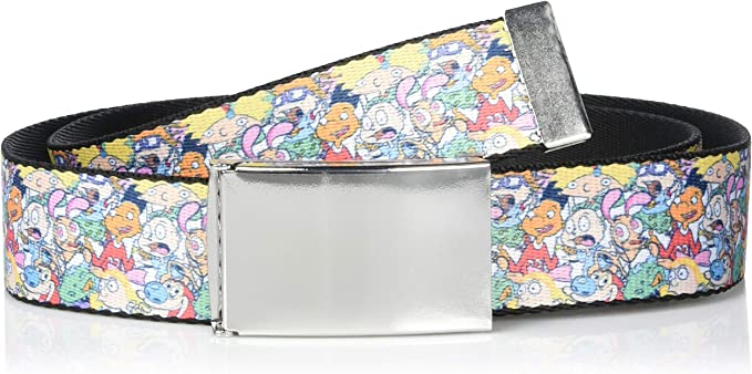 Buckle-Down unisex-adults Web Belt Pokemon 1.5 Wide-Fits up to 42 Pant Size Multicolor