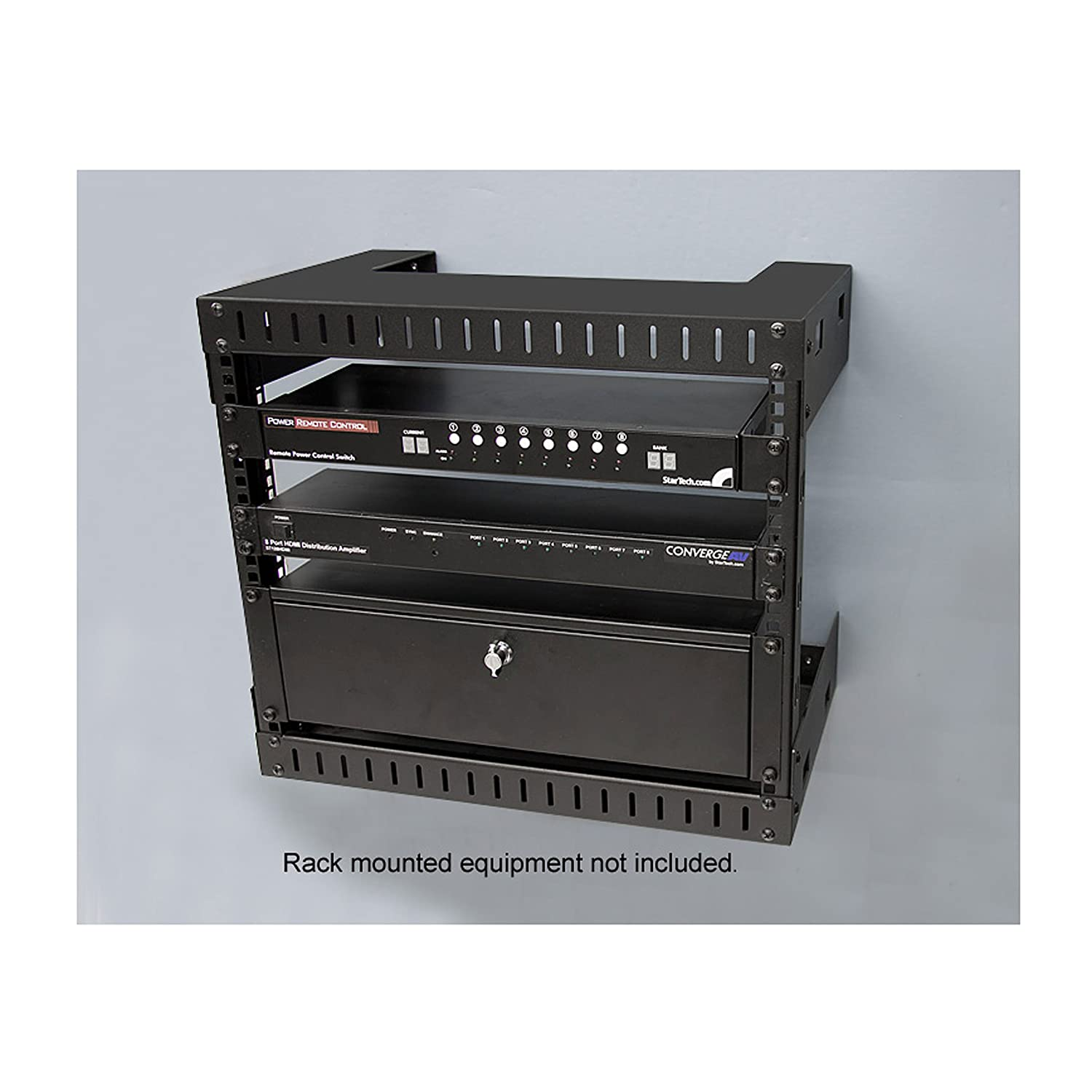 reg omnimount product photo h black b enclosed c equipment rack