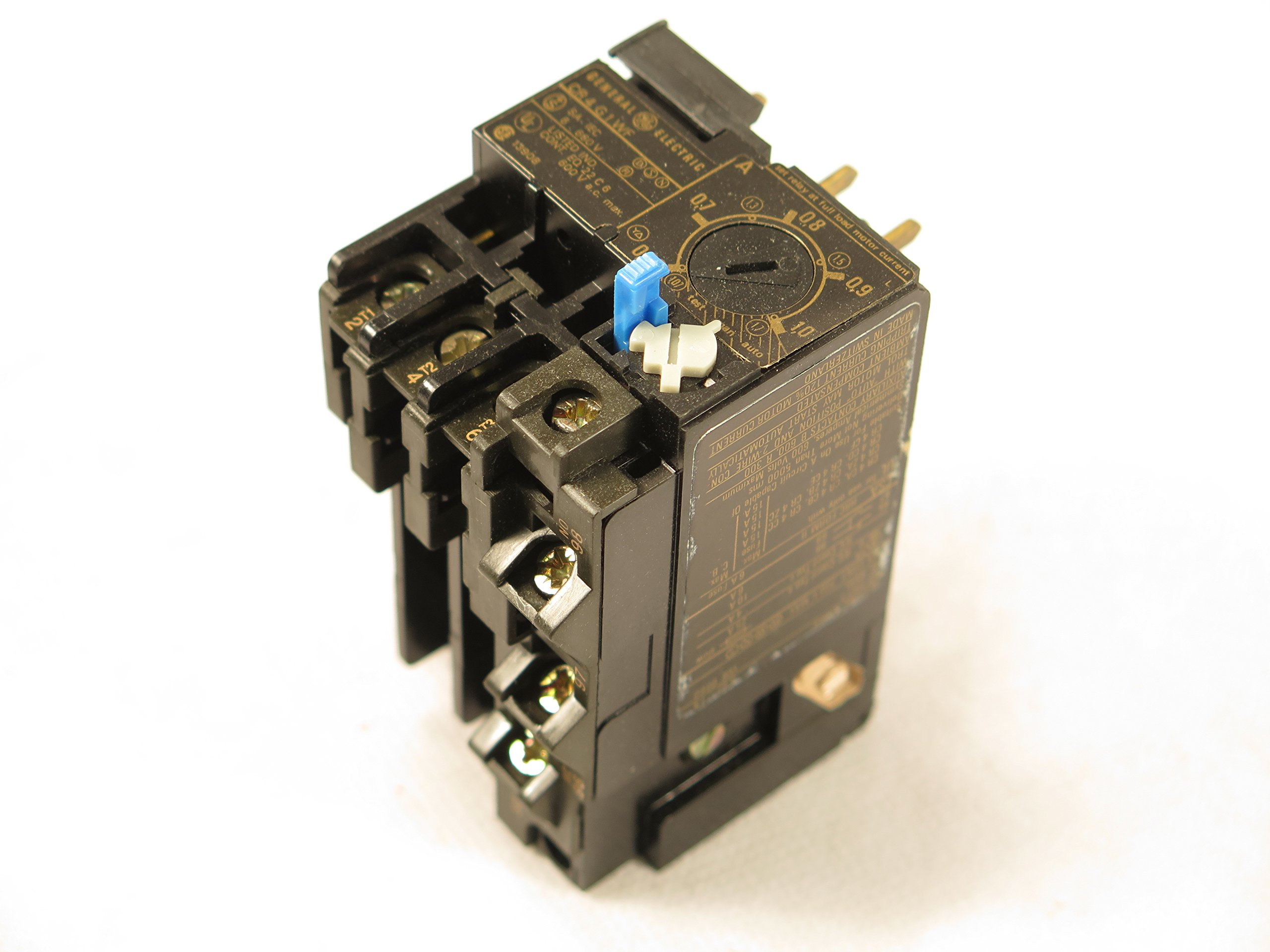 GE CR4G1WF THERMAL OVERLOAD RELAY DIRECT MOUNTING TO CONTACTOR 0.62-1.0A FITS SPRECHER SCHUH CT3-1.0
