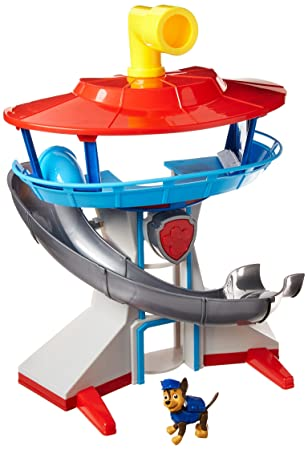 Amazon Com Paw Patrol The Lookout Playset With Chase Toys Games