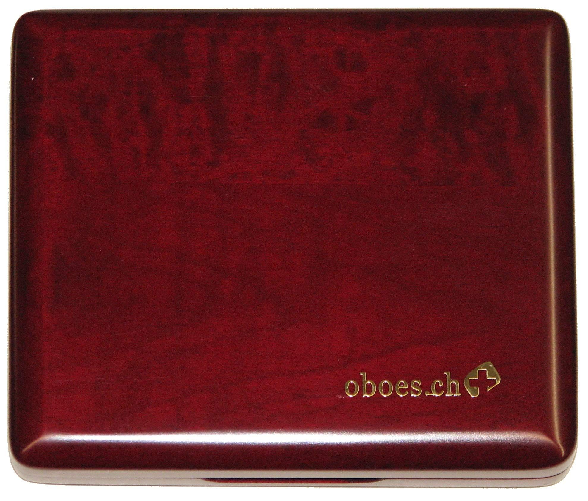 10-Reed Oboe Reed Case Wood Padauk by Oboes.ch