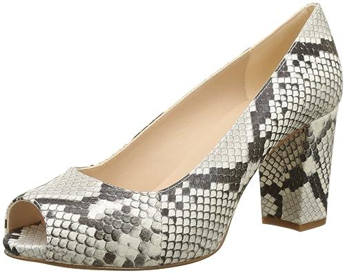Patric_18_vp, Zapatos de Tacón con Punta Abierta para Mujer, Multicolor (Nacar), 39 EU Unisa