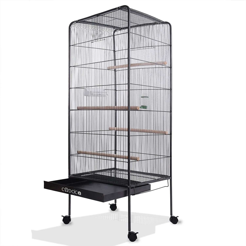 Volière cage à oiseaux metal canaries perroquet perruches hauteur 157cm Deuba