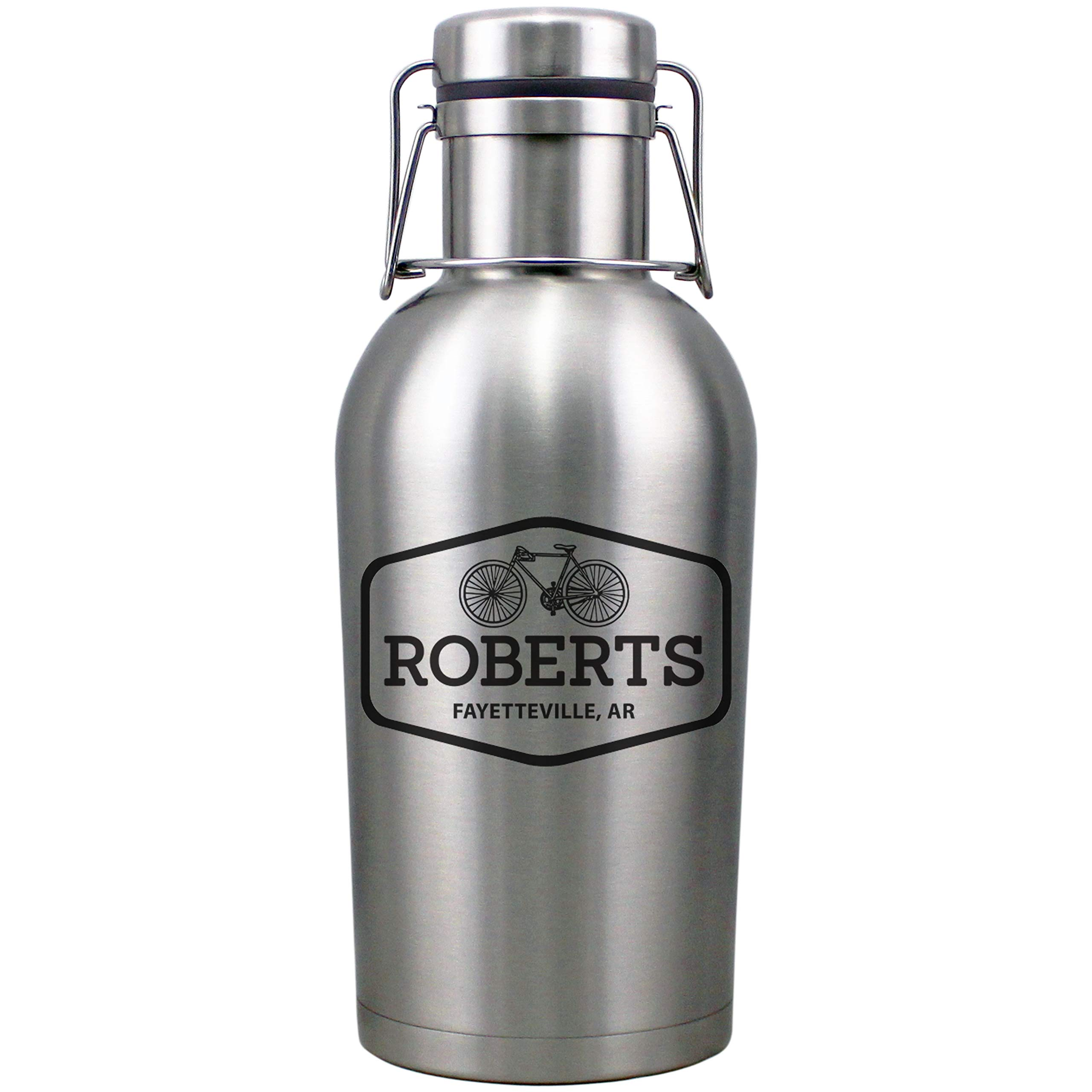 Pick Your Design Personalized Etched 64oz Insulated Stainless Steel Growler by Spotted Dog Company