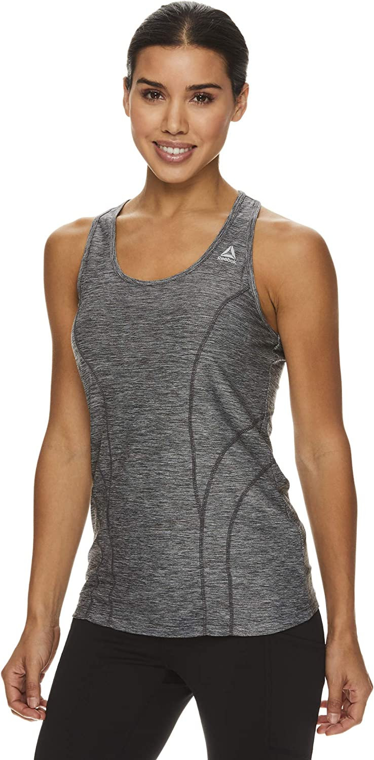Reebok Womens Running /& Workout Tank Top Dynamic Fitted Performance Racerback Active Gym Shirt