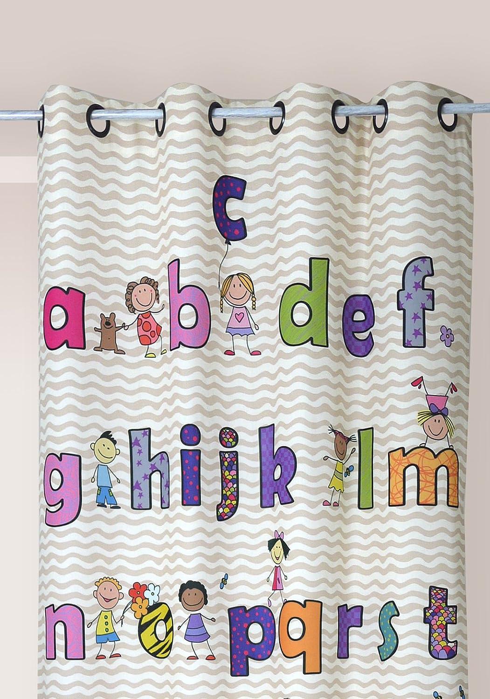 /Decoraci/ón aprox. 140/x 245/cortina semitransparente cinta para # 1646, tela, Londres, 140 x 245 cm Voile/