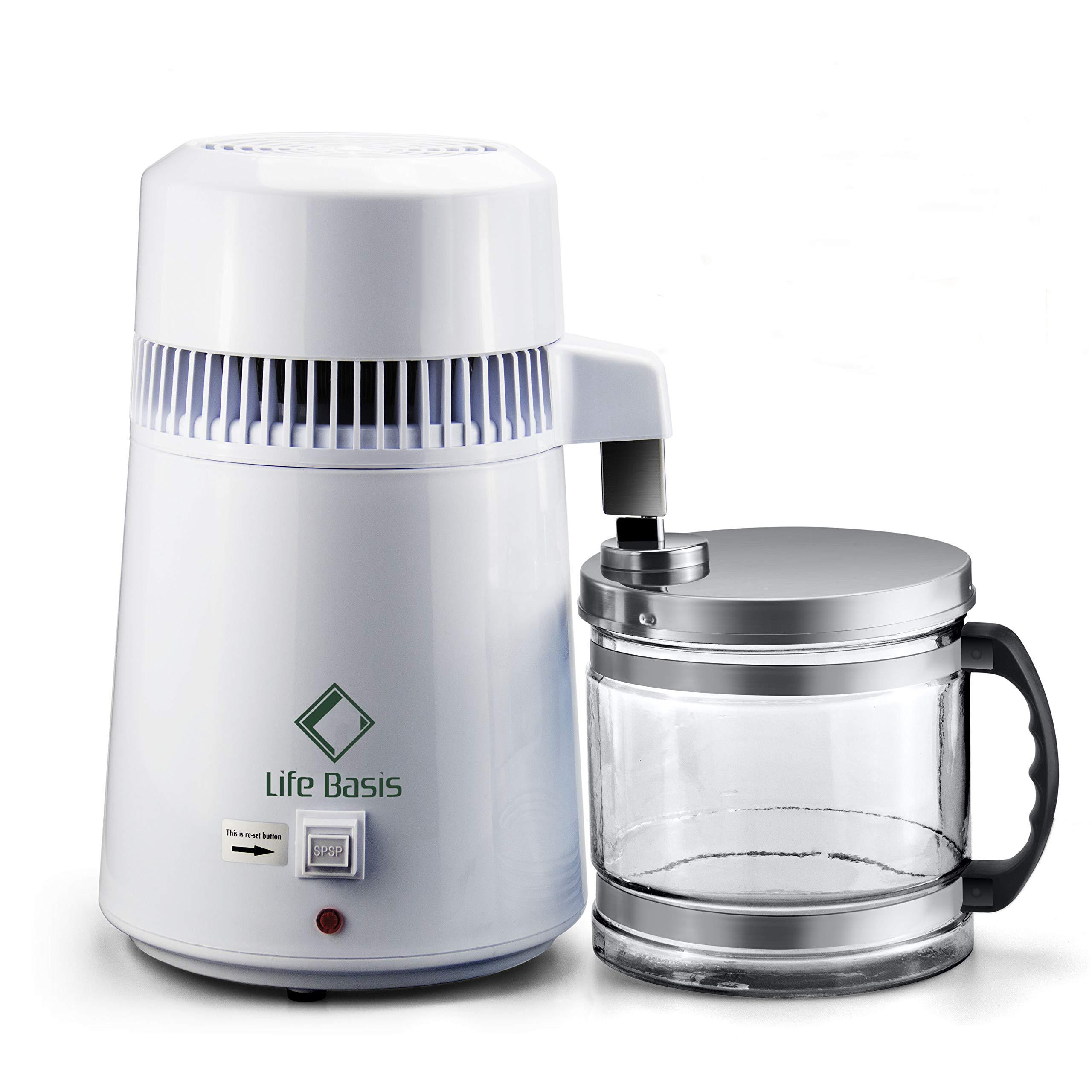 Hervorragend LifeBasis Destilliergerät 4L Wasserdestillierer Wasser Destillertes  Wasser Maschine Mit Glas Sammelkanne Wasserdestille Und Ein Tragbaren