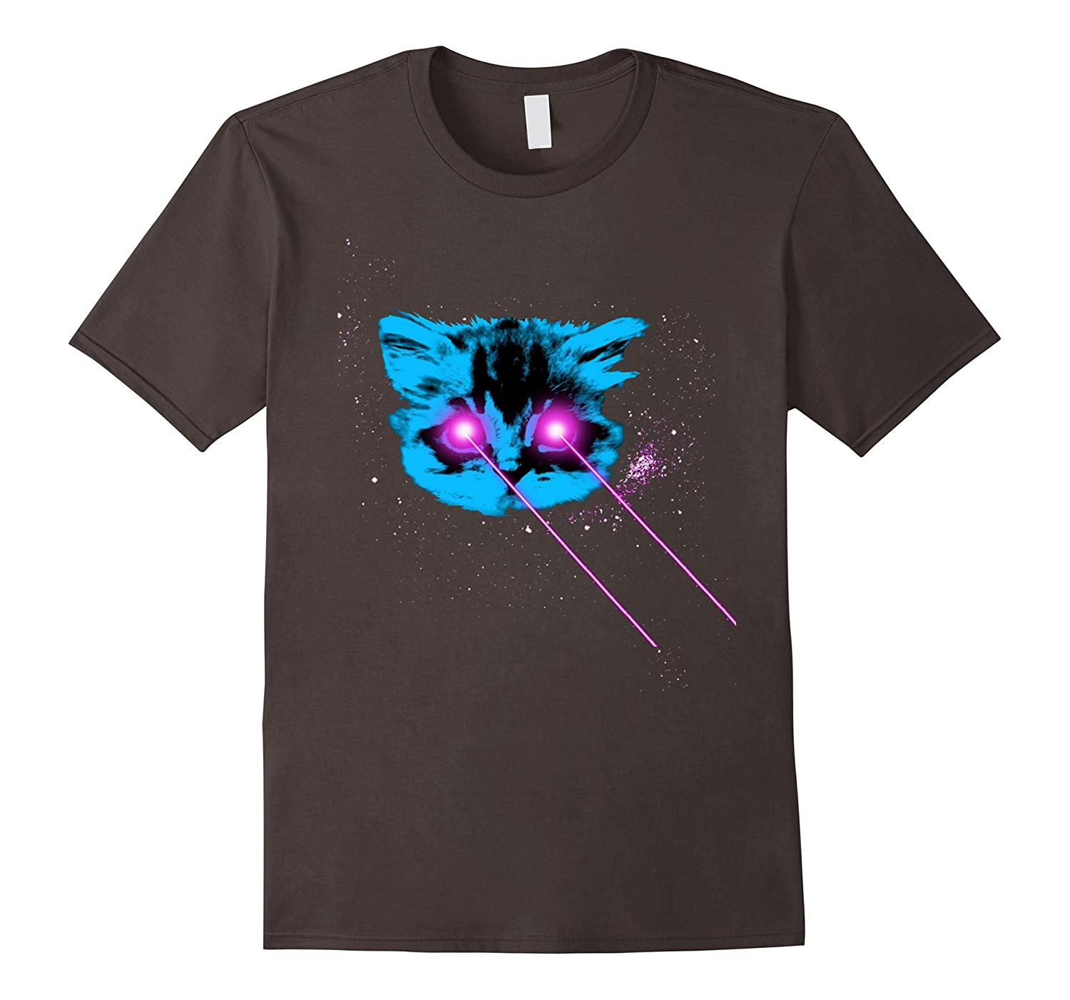 Laser Cat in Space Tee Shirt T-Shirt Kitty Kitteh-TH