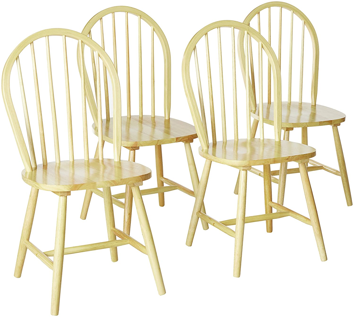 Hesperia Windsor Dining Side Chairs Natural Brown and White (Set of 4) Coaster Home Furnishings 4129
