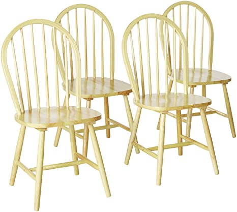 Brilliant Benson Windsor Dining Side Chairs Natural Set Of 4 Creativecarmelina Interior Chair Design Creativecarmelinacom