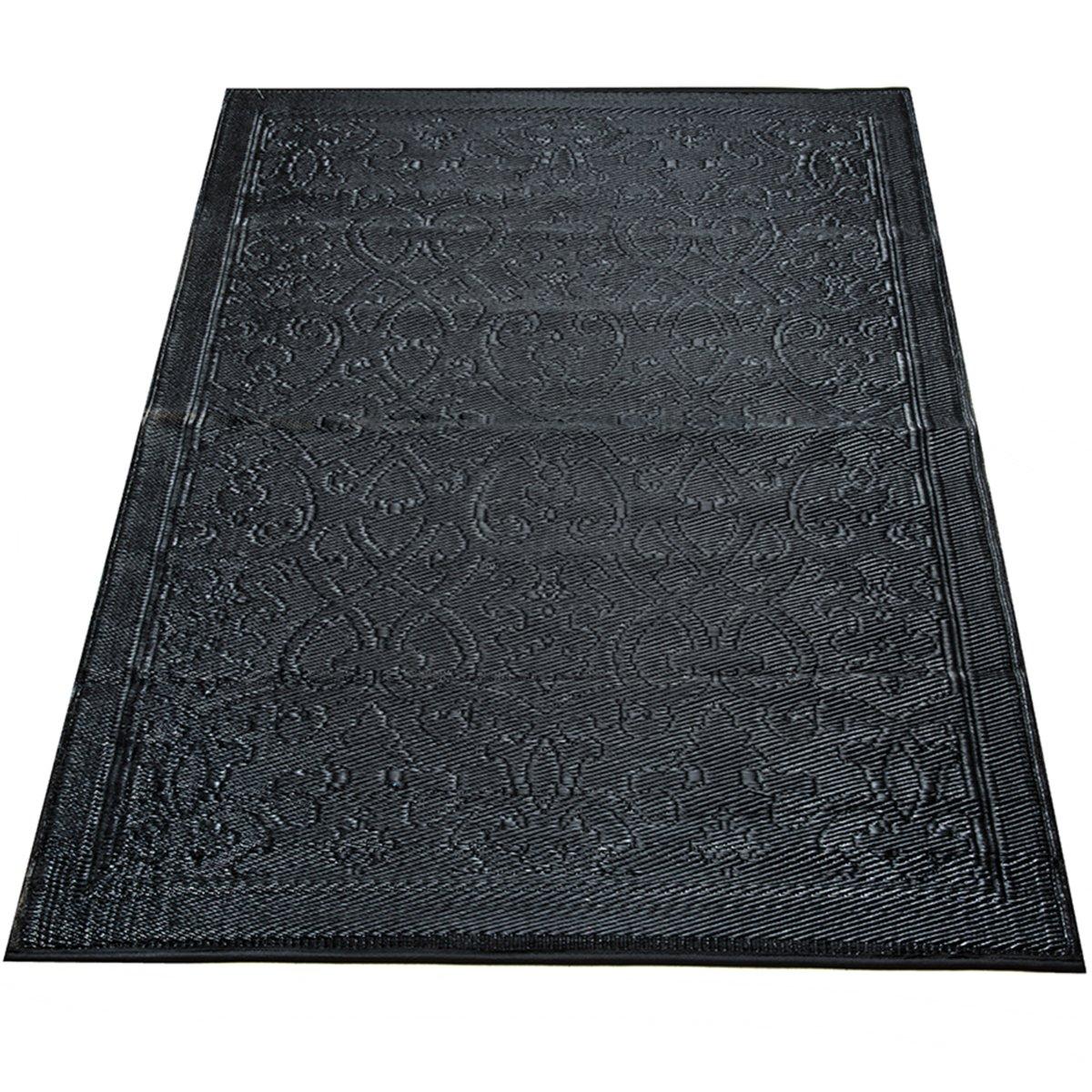 Yankee Trader 4' X 6' Indoor/Outdoor Decorative Reversible Patio Carpet Rug, Pattern 15