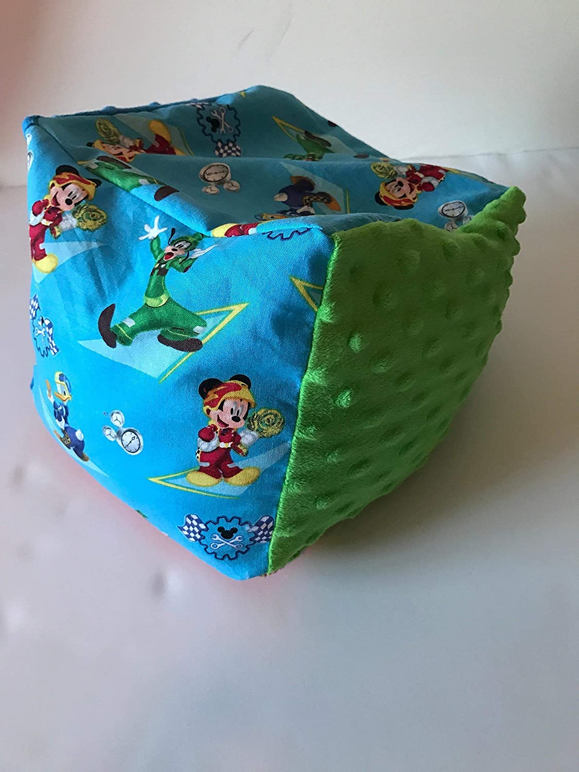 large sensory toy fidget block autism sensory toy poly pellets Weighted character Block 4-5 lbs