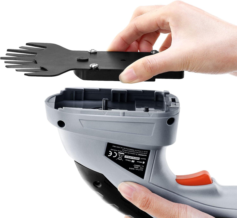 VonHaus Tijera Arreglasetos 2 en 1 7,2 V Mango Telesc/ópico Y Accesorios Hojillas Intercambiables Bater/ía y Cargados incluidos