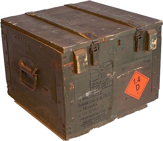 Caja de almacenamiento de madera, de estilo militar, paredes de ...