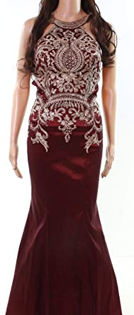 c9552ccf094 Xscape Women s Petite Embroidered Mermaid Gown Purple 0P at Amazon ...