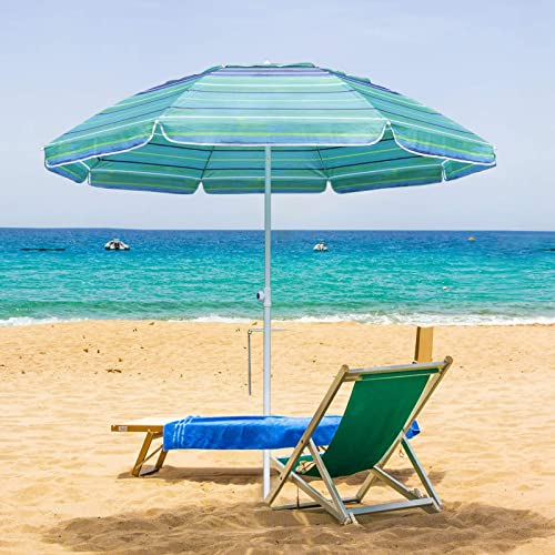 MASTERCANOPY 7FT Portable Beach Umbrella UV50