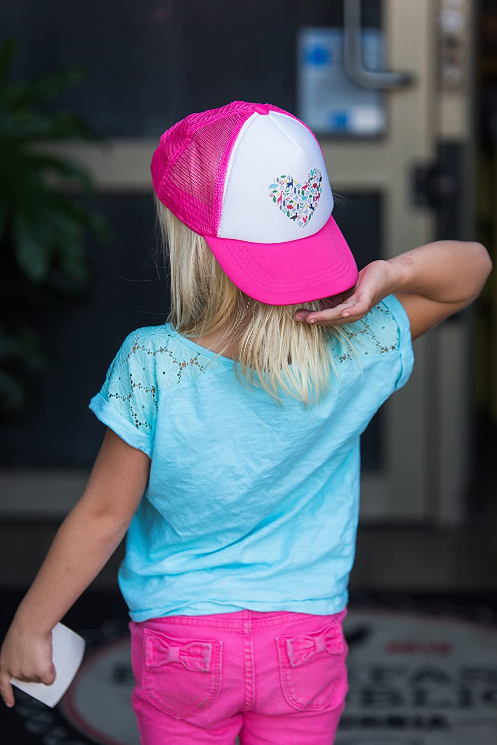 Kids Baseball Cap is Available in Baby Toddler JP DOoDLES Heart on Kids Trucker Hat and Adult Sizes.