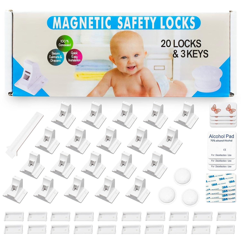 Trabas de seguridad magneticas para muebles (Pack de 20)