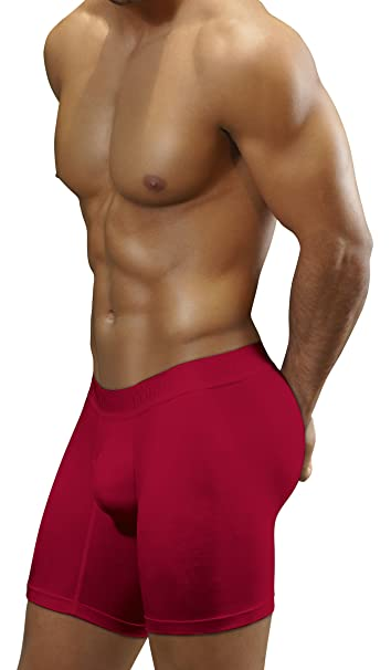 Boxers Colombianos Geordi 5175 Mens Long Boxer Briefs Underwear Vinotinto S