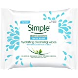 Simple Kind to Skin Cleansing Facial Wipes, Oil Balancing 25 wipes,.